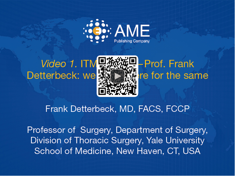 Figure 2 ITMIG 2017u2014Prof. Frank Detterbeck: We Are All Here For The Same  Goal (1). Available Online: Http://asvidett.amegroups.com/article/view/22524